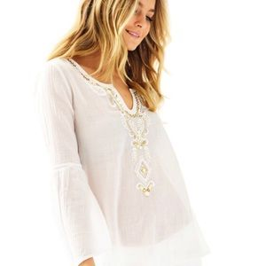 NWT Lilly Pulitzer Audra top white M